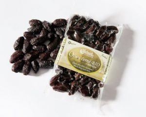 Măsline negre Botija cu sâmburi și ierburi raw bio 150g