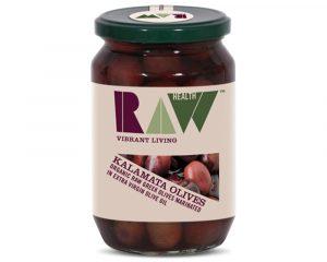 Măsline Kalamata raw în ulei de măsline bio 330g