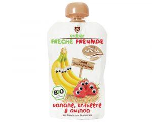 Piure de banane, căpșuni și quinoa bio 100g