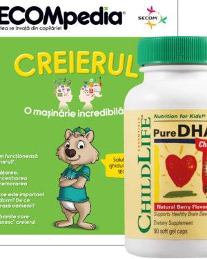 Pure DHA capsule masticabile gust de fructe Secom 90 cps
