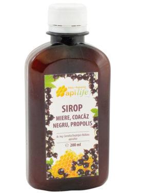 Sirop cu miere, coacaz negru şi propolis Apilife 200 ml