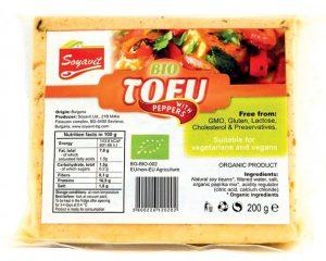Tofu Bio cu ardei Soyavit 200 grame