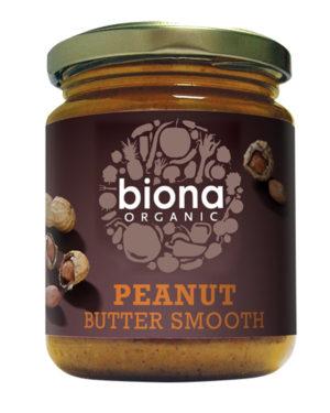 Unt de arahide smooth fără sare bio 250g Biona