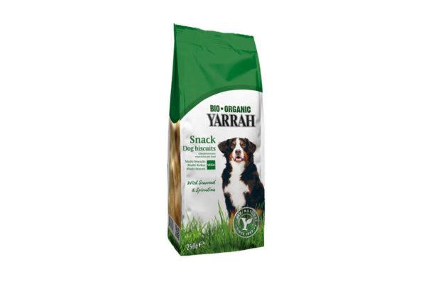 Biscuiți vegetarieni pentru câini cu alge marine și spirulină Yarrah 250 gr