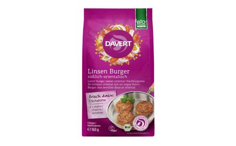 Mix bio pentru burger vegan cu linte și curry Davert 160 gr